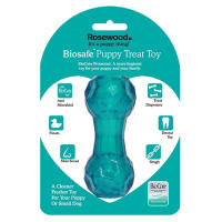 Rosewood BioSafe Dumbbell Puppy Treat Toy