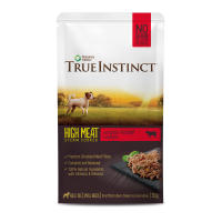 True Instinct High Meat Fillets Chicken with Grass-fed Beef Small Breed Wet Dog Food Pouches