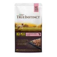 True Instinct High Meat Fillets Chicken with Salmon Small Breed Adult Wet Dog Food Pouches