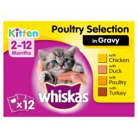Whiskas 2-12 Months Poultry Selection in Gravy Kitten Food