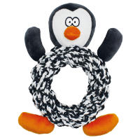 Happy Pet Knottie Ring Penguin Christmas Dog Toy