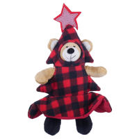 Rosewood Squeaky Bauble Bear Christmas Dog Toy