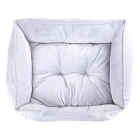 Rosewood Luxury Silver Velvet Dog Bed