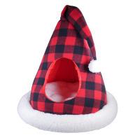 Rosewood Luxury Buffalo Check Christmas Santa Cat Bed