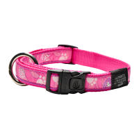 Rogz Fancy Dress Pink Love Dog Collar
