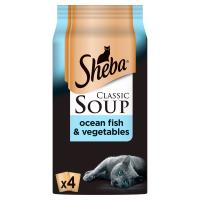 Sheba Classic Soup Pouches with Ocean Fish Fillets Adult Cat Food