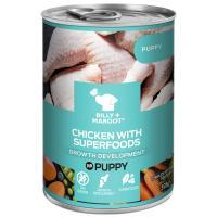 Billy & Margot Chicken with Superfoods Wet Puppy Food Tins