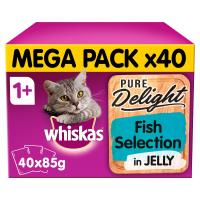 Whiskas 1+ Pure Delight Fish Selection Wet Cat Food Pouches
