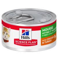 Hills Science Plan Kitten Chicken & Turkey First Nutrition Mousse Wet Cat Food