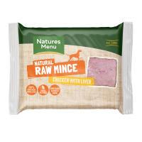 Natures Menu Minced Chicken & Liver Raw Frozen Dog Food