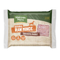 Natures Menu Minced Chicken & Rabbit Raw Frozen Dog Food