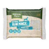 Natures Menu Minced White Fish Raw Frozen Dog Food