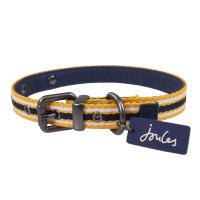Joules Navy Coastal Dog Collar