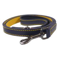 Joules Navy Leather Dog Lead