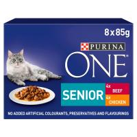 Purina ONE Chicken & Beef Mini Fillets In Gravy Senior 7+ Cat Food