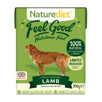 Naturediet Feel Good Lamb Wet Adult Dog Food Cartons