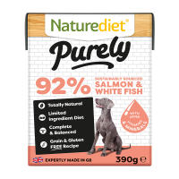Naturediet Purely Sustainably Sourced Salmon & Whitefish Wet Adult Dog Food Cartons