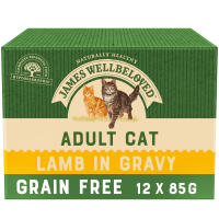 James Wellbeloved Grain Free Lamb Adult Cat Pouches