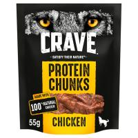 Crave Protein Chunks Natural Chicken Dog Treats