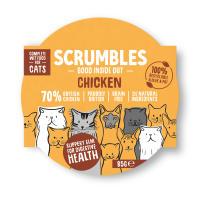 Scrumbles Grain Free Chicken Wet Adult Cat Food 85g x 48