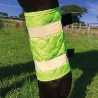Equisafety Quilted Reflective Leg Boots for Horses