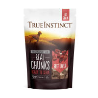 True Instinct Freeze Dried Beef Liver Real Chunks Dog Food