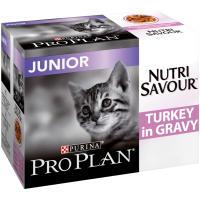 PRO PLAN NUTRISAVOUR Turkey in Gravy Junior Kitten Pouches