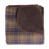 Barbour Dog Blanket in Classic Tartan & Brown
