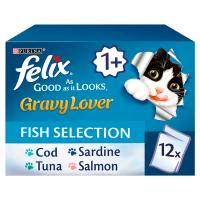 Felix As Good As It Looks Gravy Lover Fish Selection Adult Cat Food