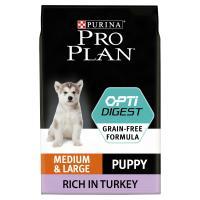 PRO PLAN OPTIDIGEST Turkey Sensitive Digestion Medium Puppy Food 12kg x 2