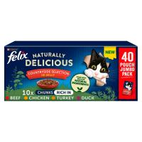 Felix Naturally Delicious Countryside Selection in Jelly Adult Cat Food