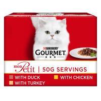 Gourmet Mon Petit Poultry Pouches Adult Cat Food