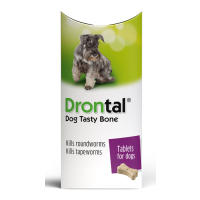 Drontal Tasty Bone Worming Tablets for Small and Medium Dogs