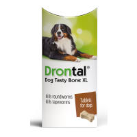 Drontal Tasty Bone XL Worming Tablets for Large Dogs Over 20kg
