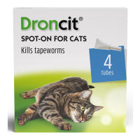 Droncit Spot On Tapewormer Wormer for Cats