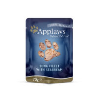 Applaws Natural Tuna Fillet with Seabream in Broth Wet Adult Cat Food