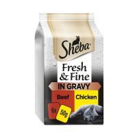 Sheba Fresh & Fine Beef & Chicken in Gravy Wet Adult Cat Food