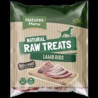 Natures Menu Lamb Ribs Raw Frozen Natural Dog Treat