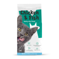Monster Pet Foods Chicken & Fish with Rice Dry Kitten Food 7.5kg x 2