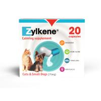 Zylkene Calming Supplement for Cats and Dogs 75mg - Cats & Dogs up to 10kg x 20