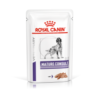 Royal Canin Veterinary Diets Mature Consult in Loaf Senior Wet Dog Food