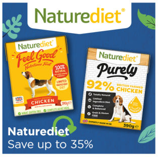 Save up to 35% on Naturediet Feel Good dog food