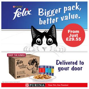 Felix bulk pouches from Just £29.55
