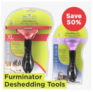 Furminator dog and cat deshedding tools