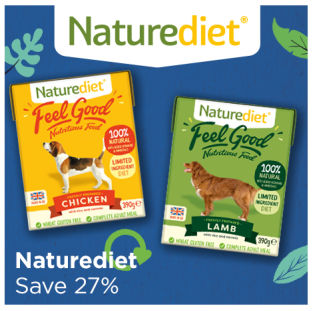 Naturediet wet dog food save 27%