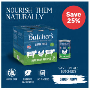 Butchers wet dog food save 25%
