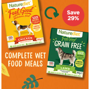 Save 33% on Naturediet wet dog food