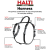 Halti Walking Harness Black & Grey