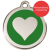 Red Dingo Cat ID Tag Stainless Steel & Enamel Heart