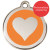 Red Dingo Dog ID Tag Stainless Steel & Enamel Heart